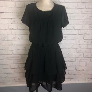 Converse black ruffle layered dress